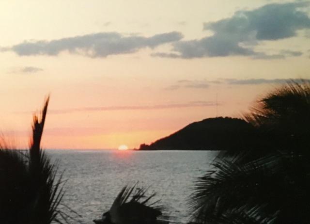 Sunset in Santiago de Cuba