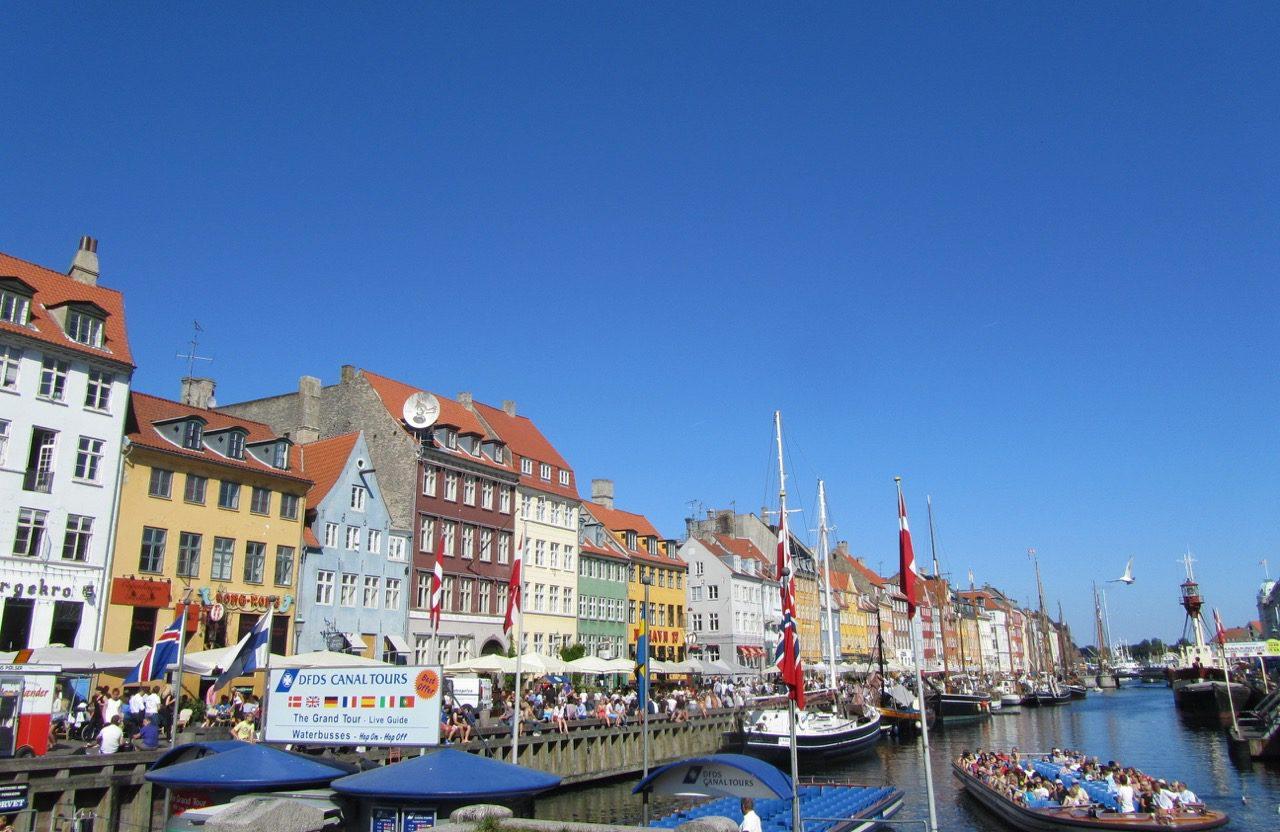 Copenhagen's canals near Nyhavn walkway